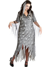 Adult Graveyard Zombie Costume Plus Size