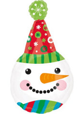 Foil Snowman Balloon 45in