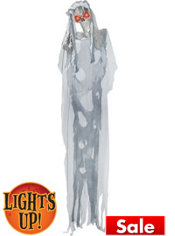 Light-Up Standing Skeleton Bride 6ft