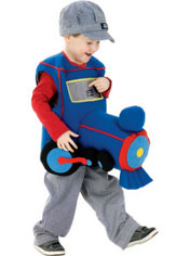 Toddler Boys Plush Ride in Train Costume