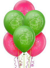 Latex Monkey Love Balloons 12in 6ct