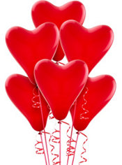 Red Heart Balloons 6ct
