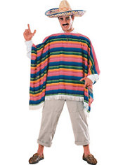 Adult Mexican Sombrero and Serape Costume