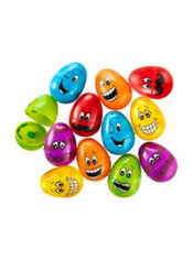 Smiling Fillable Easter Eggs 12ct