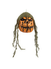 Hanging Angry Pumpkin Head
