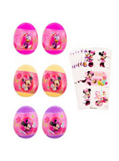 Minnie Mouse Sticker Easter Eggs 6ct