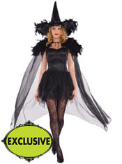 Adult Feather Fashion Witch Costume