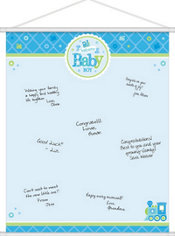 Boy Welcome Baby Sign-In Sheet - Welcome Little One