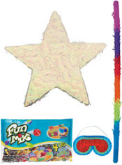 Foil Iridescent Star Pinata Kit
