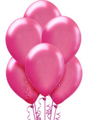 Bright Pink Pearl Balloons 15ct