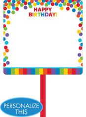 Rainbow Birthday Blank Yard Sign