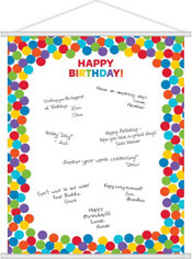 Rainbow Birthday Sign-In Sheet