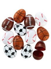 Sports Ball Fillable Easter Eggs 12ct