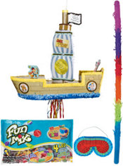 Pull String Pirate Ship Pinata Kit - Jake and the Never Land Pirates