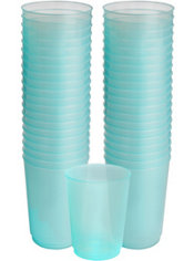 Robin's Egg Blue Plastic Cups 72ct