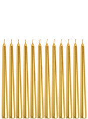 Gold Taper Candles 12ct