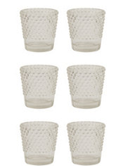 Clear Hobnail Votive Candle Holders 6ct