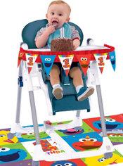 1st Birthday Elmo High Chair Decorating Kit 2pc