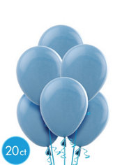 Baby Blue Latex Balloons 9in 20ct