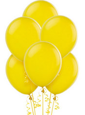 Sunburst Yellow Latex Balloons 9in 20ct