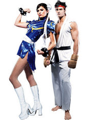 Chun Li and Ryu Street Fighter Couples Costumes