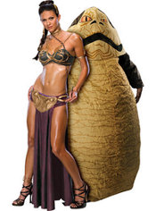 Princess Leia Slave and Jabba The Hutt Star Wars Couples Costumes