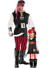 Pirate Daddy and Me Costumes