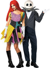Sassy Sally and Jack Skellington Nightmare Before Christmas Couples Costumes