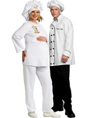 Deluxe Baker Maternity and Master Chef Couples Costumes
