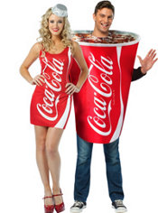 Coca-Cola Cup and Coca-Cola Bottle Couples Costume
