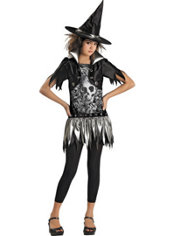 Girls Gothic Witch Costume