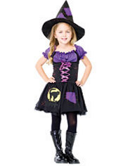 Girls Black Cat Witch Costume
