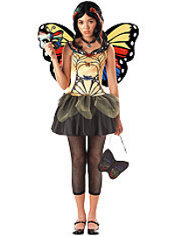 Girls Strangelings Butterfly Masquerade Dark Fairy Costume