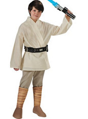 Boys Luke Skywalker Costume Deluxe - Star Wars