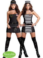 Adult Crimes and Miss Demeanors Reversible Costume