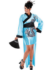Adult Dragon Geisha Costume Plus Size