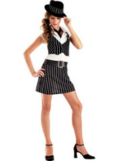 Teen Girls Mobsta Girl Costume