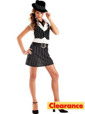 Teen Girls Mobsta Girl Costume