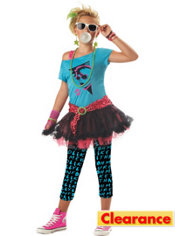 Girls 80s Valley Girl Costume