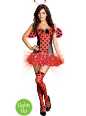 Adult Light Me Up Ladybug Light-Up Costume