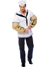 Adult Sailor Muscle Costume