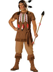Adult Native American Brave Costume Elite