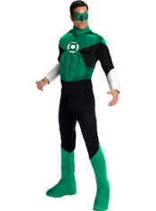 Adult Muscle Chest Green Lantern Costume Deluxe