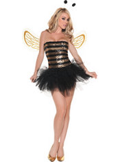 Adult Sequins Bee Costume