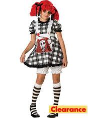 Girls Tragedy Anne Gothic Rag Doll Costume