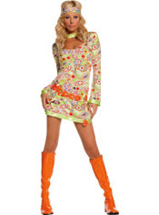 Adult Groovy Chick Hippie Costume