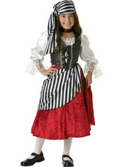 Girls Pirate Girl Costume Elite