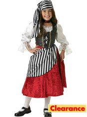 Girls Pirate Girl Costume Elite