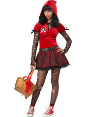 Girls Little Rad Riding Hood Costume