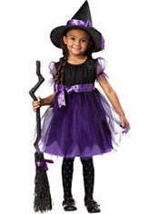 Toddler Girls Purple Charmed Witch Costume
